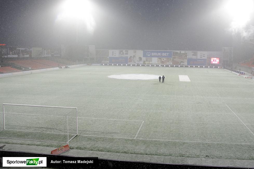 Odwołany mecz Termalica Bruk-Bet Nieciecza - Jagiellonia Białystok (galeria)