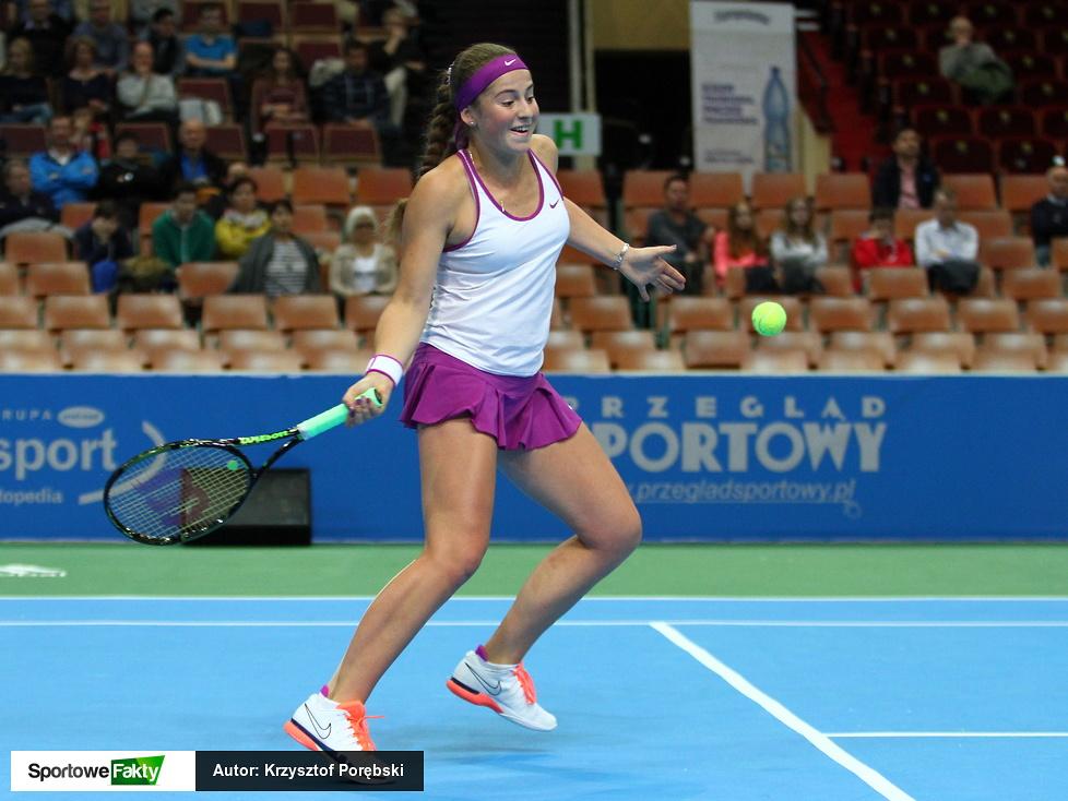 WTA Katowice: Jelena Ostapenko - Timea Babos 2:1 (galeria)