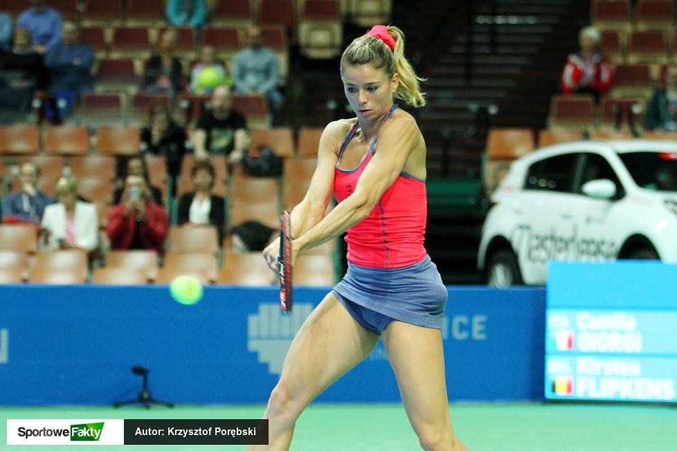 WTA Katowice: Camila Giorgi - Kirsten Flipkens 2:1 (galeria)