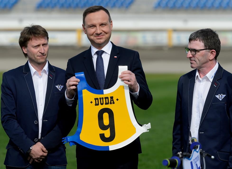 Andrzej Duda z wizytą na stadionie Unii Leszno (galeria)