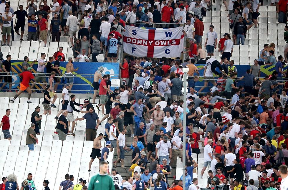 Szokujące sceny po meczu Anglia - Rosja (galeria)