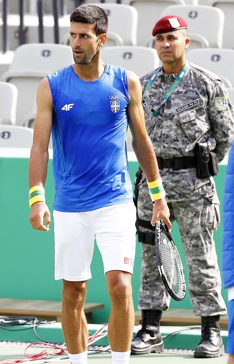 Novak Djoković, Andy Murray i Rafael Nadal trenowali na kortach w Rio de Janeiro (galeria)