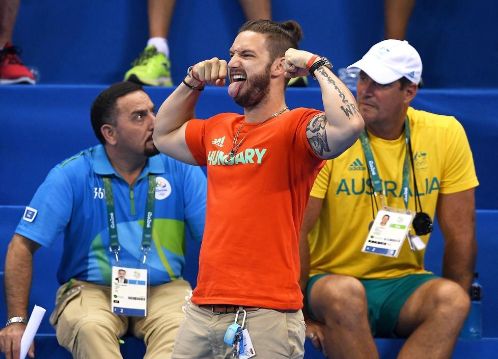 Rio 2016: mąż mistrzyni olimpijskiej gwiazdą internetu. Jego szalony doping robi furorę
