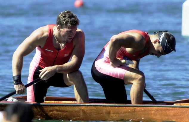 Paweł Baraszkiewicz i Michał Gajownik podczas olimpijskiego finału w Sydney (fot. East News)