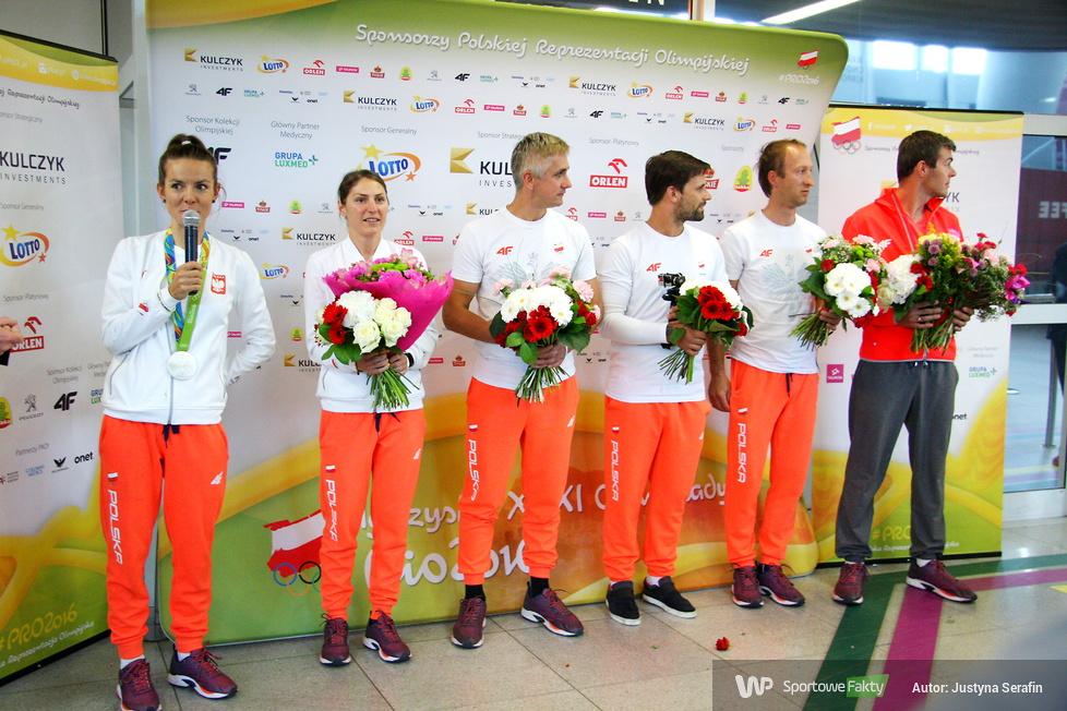 Rio 2016: Maja Włoszczowska wróciła do Polski (galeria)