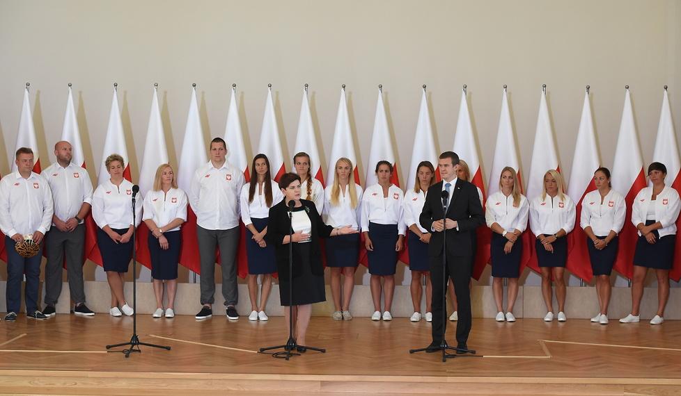 Polscy medaliści IO w Rio de Janeiro spotkali się z premier Szydło