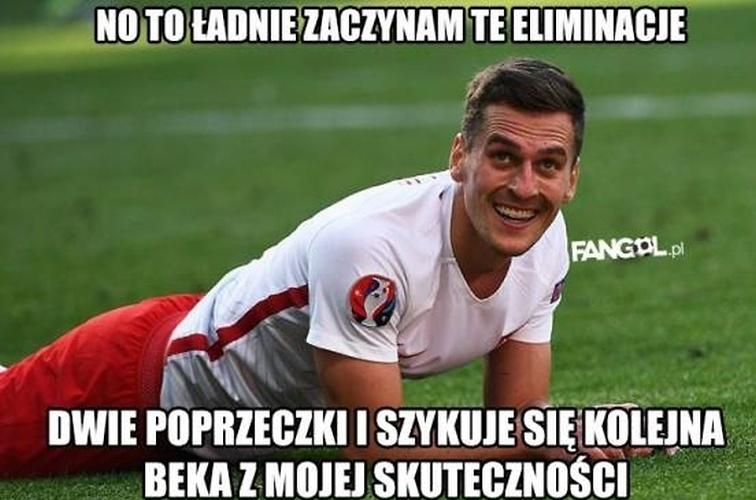 Memy po meczu z Kazachstanem: Milik został antybohaterem. Internauci są bezlitośni