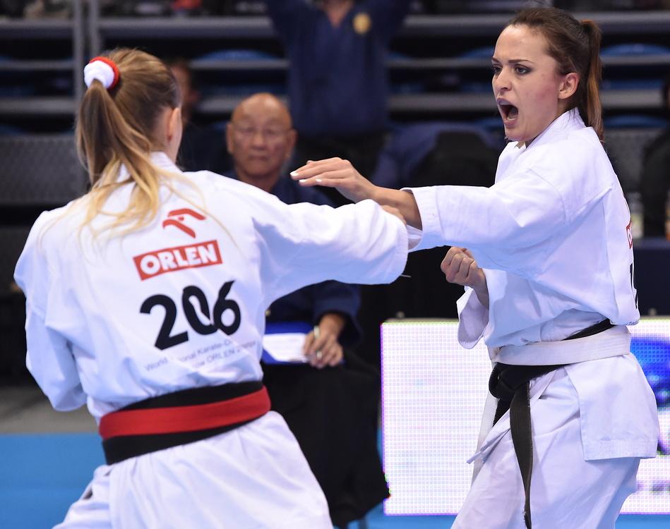 Skupienie, technika, siła. Koleżanki Lewandowskiej walczyły na MŚ w karate