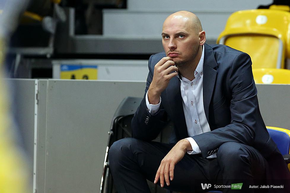 Trener Asseco przed rozpoczęciem meczu...
