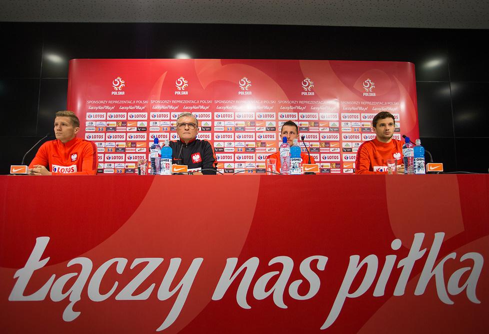 Konferencje i treningi przed meczem Polska - Słowenia (galeria)