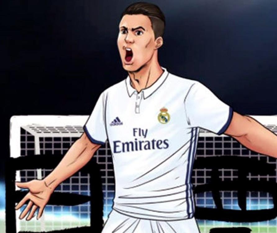 Na rysunku: Cristiano Ronaldo....