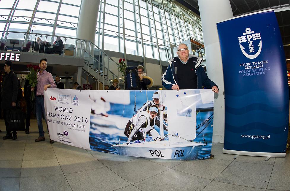 Nasze mistrzynie i wicemistrzynie świata juniorek ISAF wróciły do kraju (galeria)