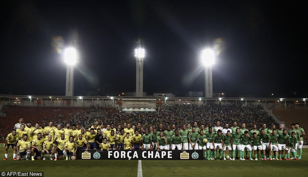 Neymar, Robinho, Kaka, Massa. Gwiazdy sportu zagrały dla Chapecoense
