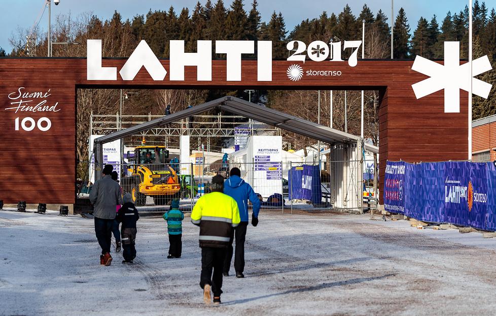 Finlandia gotowa na otwarcie mistrzostw świata. Zobacz zdjęcia z Lahti