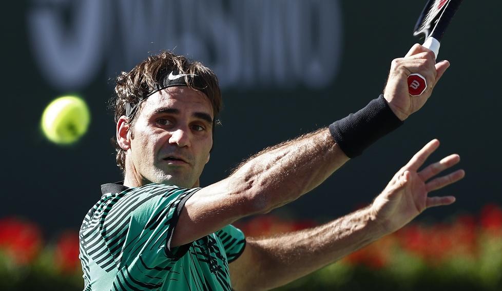 Roger Federer lepszy od Stana Wawrinki w szwajcarskim finale turnieju BNP Paribas Open (galeria)