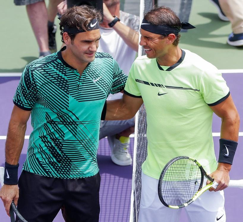 Roger Federer lepszy od Rafaela Nadala w finale turnieju Miami Open (galeria)