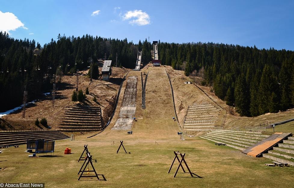Masyw górski Igman wraz z nowo wybudowanymi skoczniami olimpijskimi by...