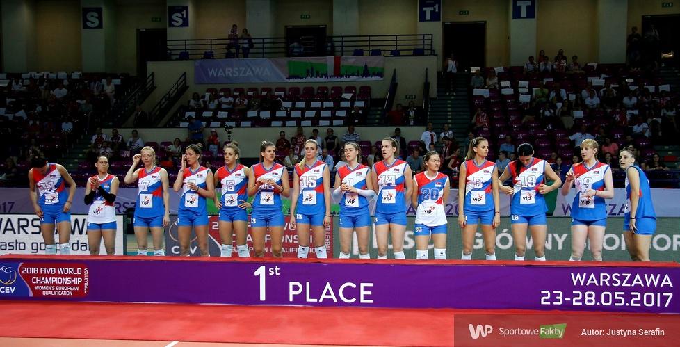 Ceremonia dekoracyjna najlepszych zespołów turnieju kwalifikacyjnego do mistrzostw świata kobiet 2018 (galeria)