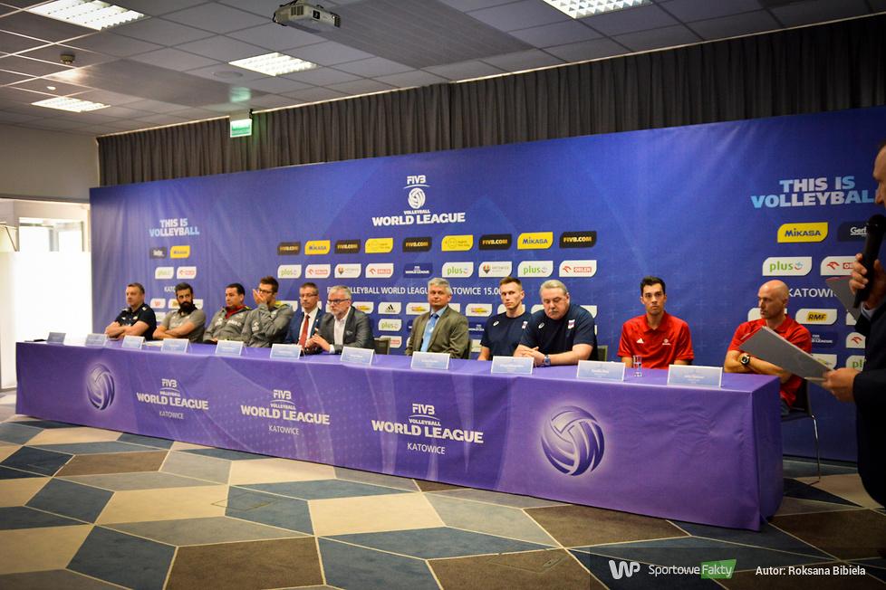 Konferencja prasowa przed Ligą Światową w Katowicach (galeria)