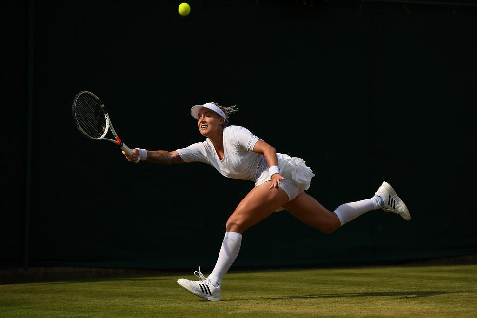 W meczu Amerykanki Bethanie Mattek-Sands z Rumunką Soraną-Mihaelą C...