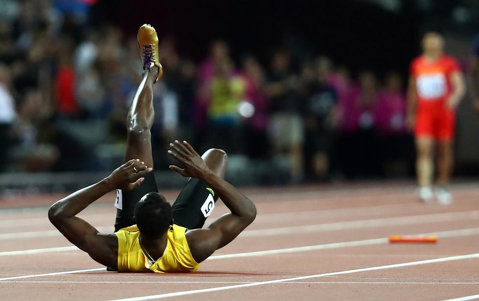 MŚ Londyn 2017: Dramat! Usain Bolt nie ukończył ostatniego biegu w karierze (galeria)