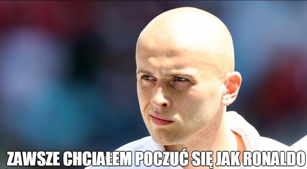 Pazdan chciał być jak Ronaldo, Dąbrowski przegrał whisky. Memy po kompromitacji Legii