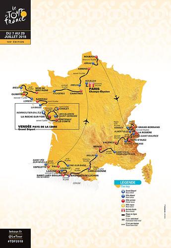 Tour de France 2018 (źródło: letour.fr)