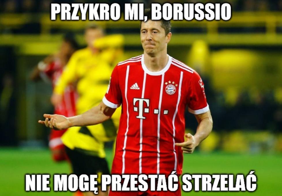 Najcenniejsza pięta w Polsce! Memy po popisie Lewandowskiego w meczu z Borussią (galeria)