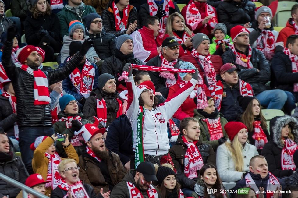 Kibice podczas meczu Polska - Meksyk w Gdańsku (galeria)