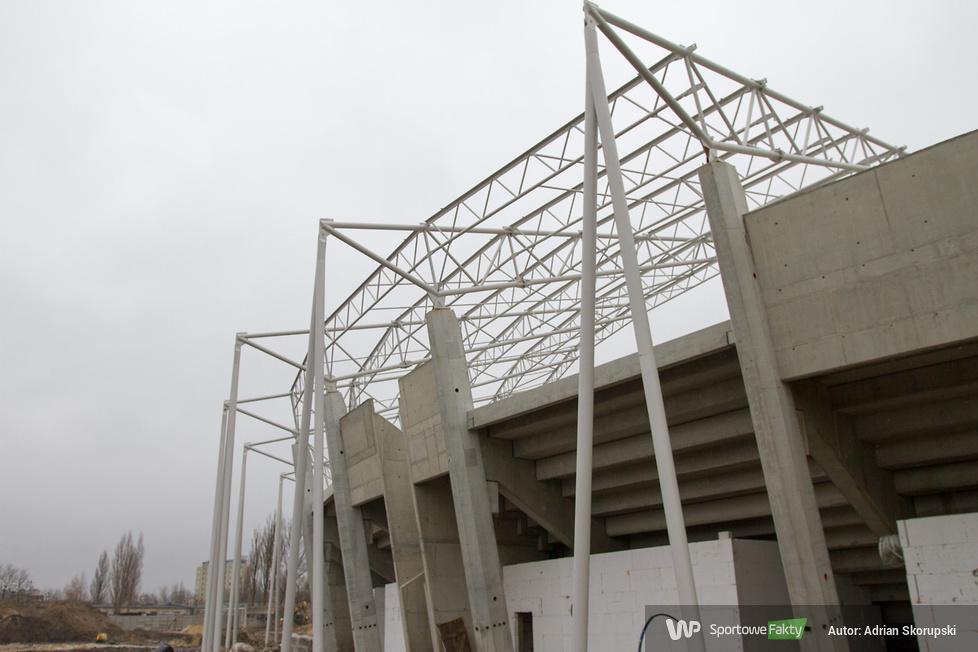 Budowa stadionu Orła Łódź (galeria)