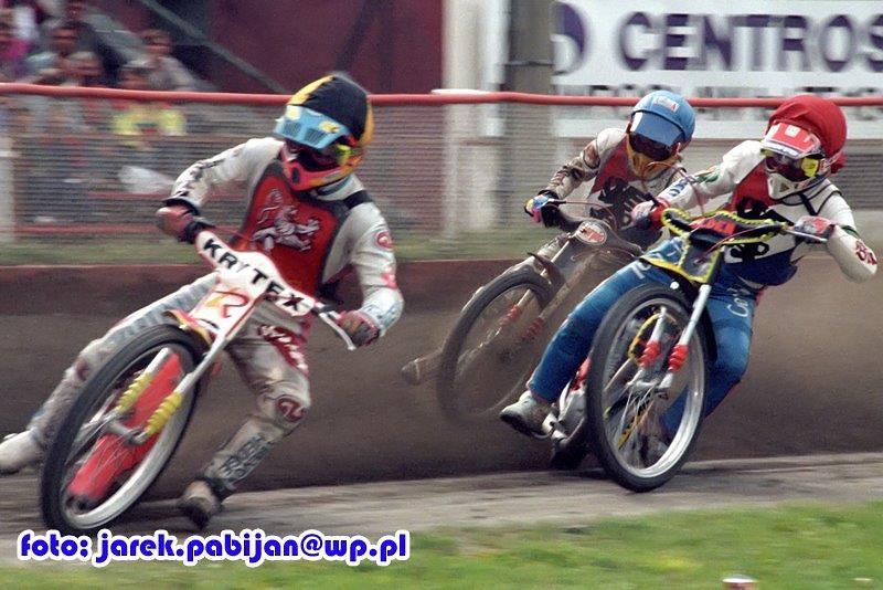 Piotr Baron - 7+2 (2*,1,2,1,1*) przed parą Eugeniusz Skupień (czerwony...