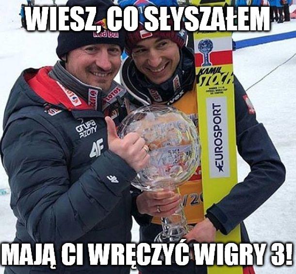 Wigry 3 dla Kamila Stocha?! Memy po PŚ w skokach w Planicy