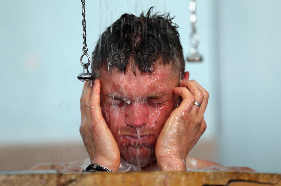 Prysznic w legendarnej łaźni na welodromie w Roubaix to tradycja i sym...