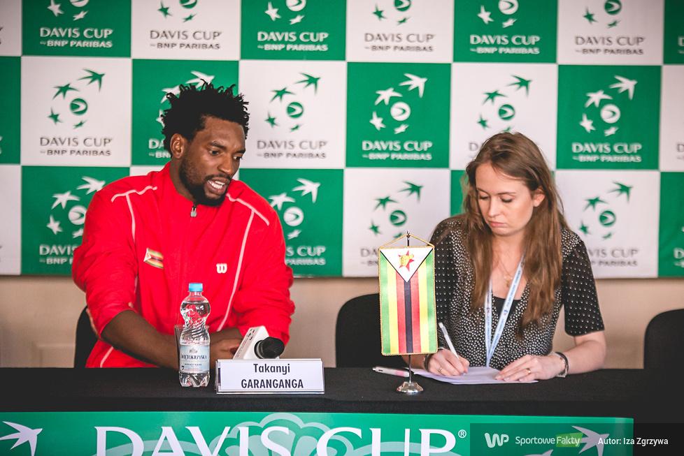 Puchar Davisa: konferencja prasowa po meczu Majchrzak - Garanganga (galeria)