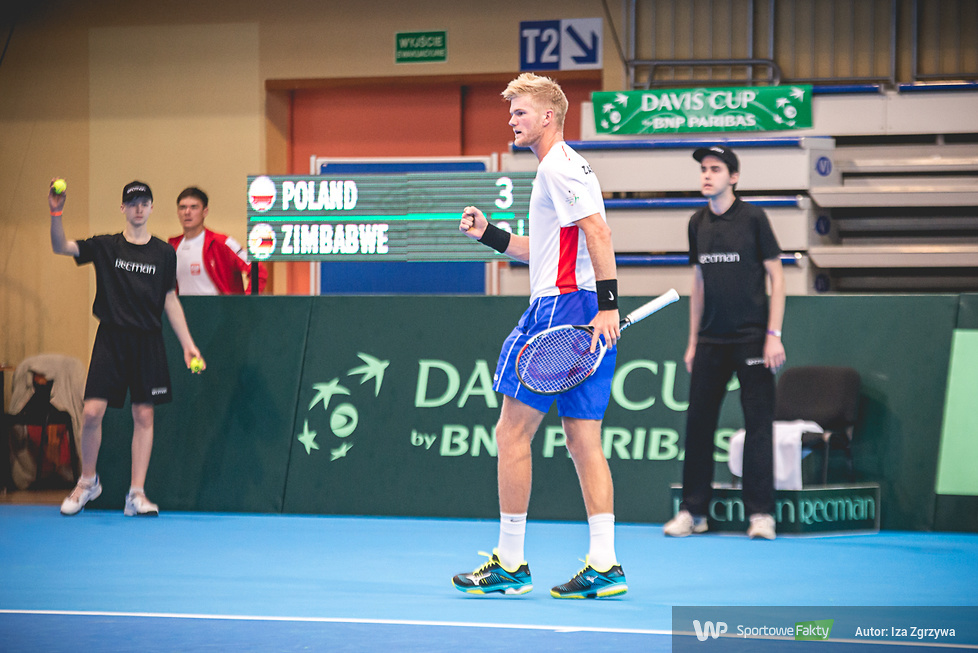Puchar Davisa: Michał Przysiężny - Benjamin Lock 0:2 (galeria)