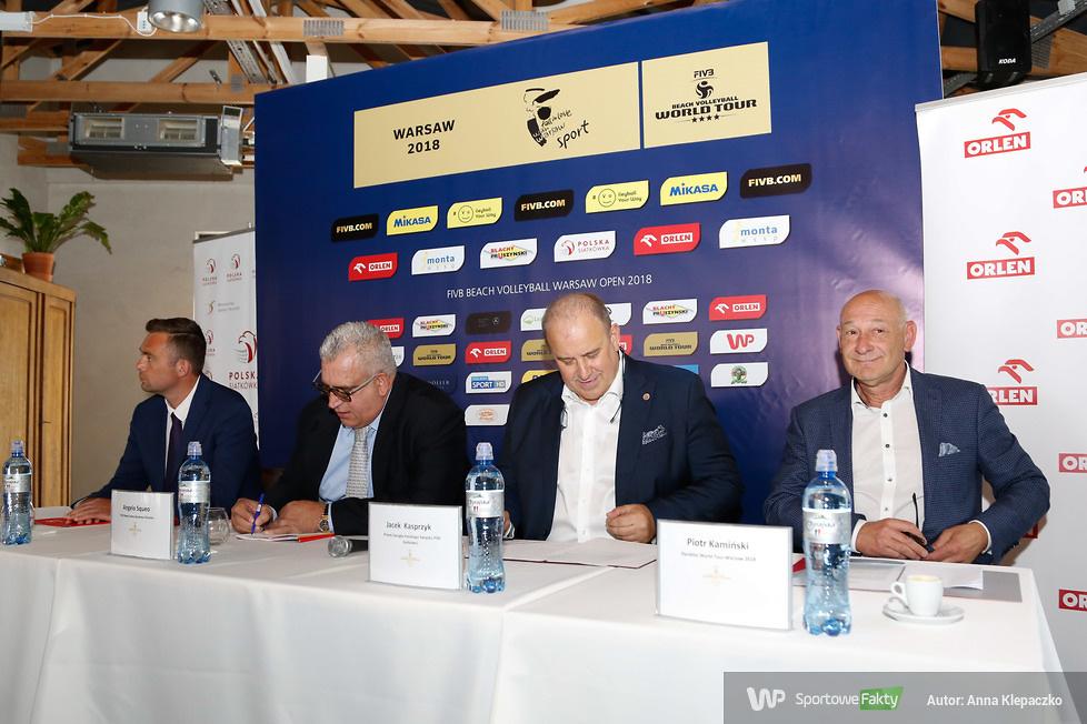Spotkanie medialne przed turniejem World Tour Warsaw 2018 (galeria)