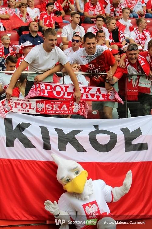 Kibice na PGE Narodowym podczas meczu Polska - Litwa (galeria)