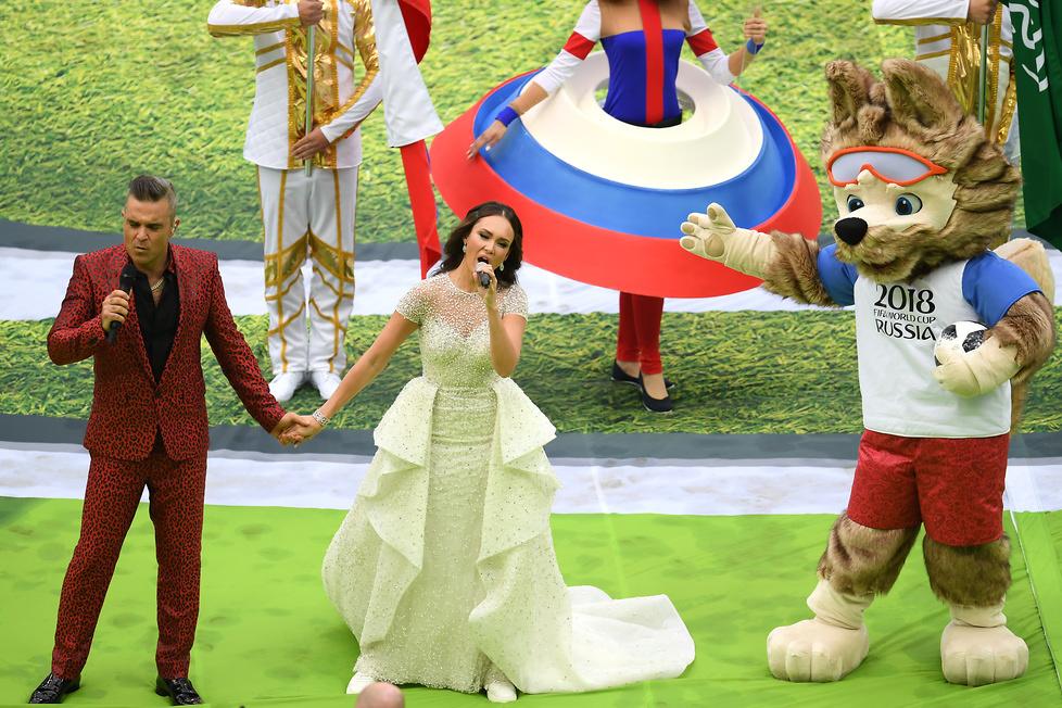 Mundial 2018. Barwnie z gwiazdami muzyki. Zobacz zdjęcia z otwarcia piłkarskich mistrzostw świata w Rosji (galeria)