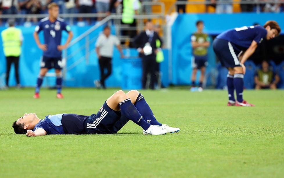 Mundial 2018. Japończycy zdruzgotani po meczu z Belgią. Nie mogli uwierzyć w to, co się stało (galeria)