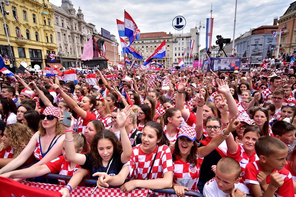 Mundial 2018. Druga drużyna świata przywitana jak mistrz. Wielkie świętowanie w Zagrzebiu (galeria)