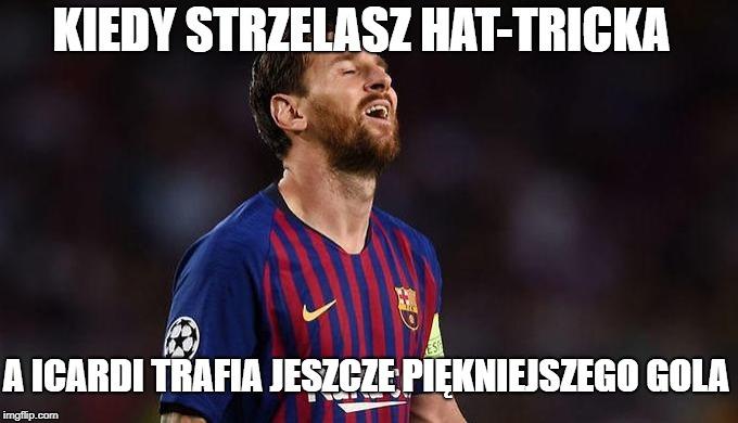Internauci zachwyceni Messim. Zobacz najlepsze memy po wtorkowych meczach 1. kolejki Ligi Mistrzów