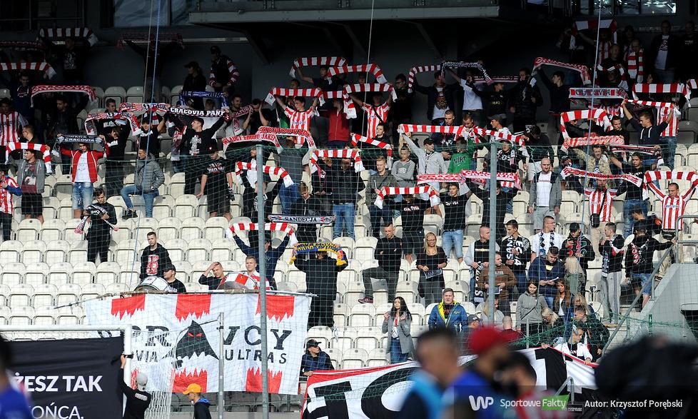 Kibice podczas meczu Cracovia - Wisła Płock (galeria)