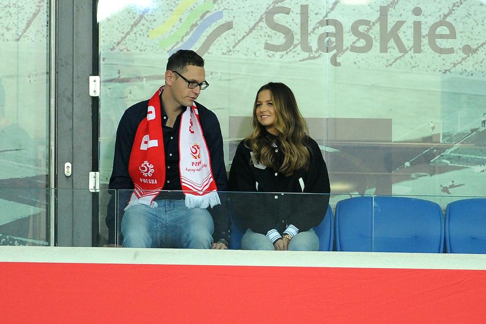 Pojawiła się na setnym meczu męża. Anna Lewandowska kibicowała w Chorzowie
