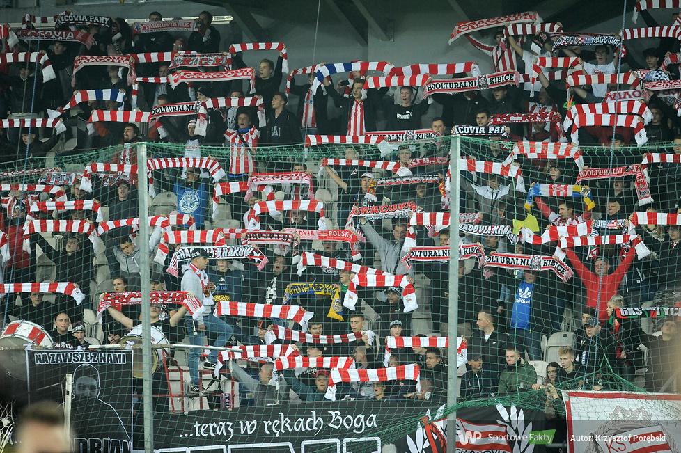Kibice podczas meczu Cracovia - Miedź (galeria)
