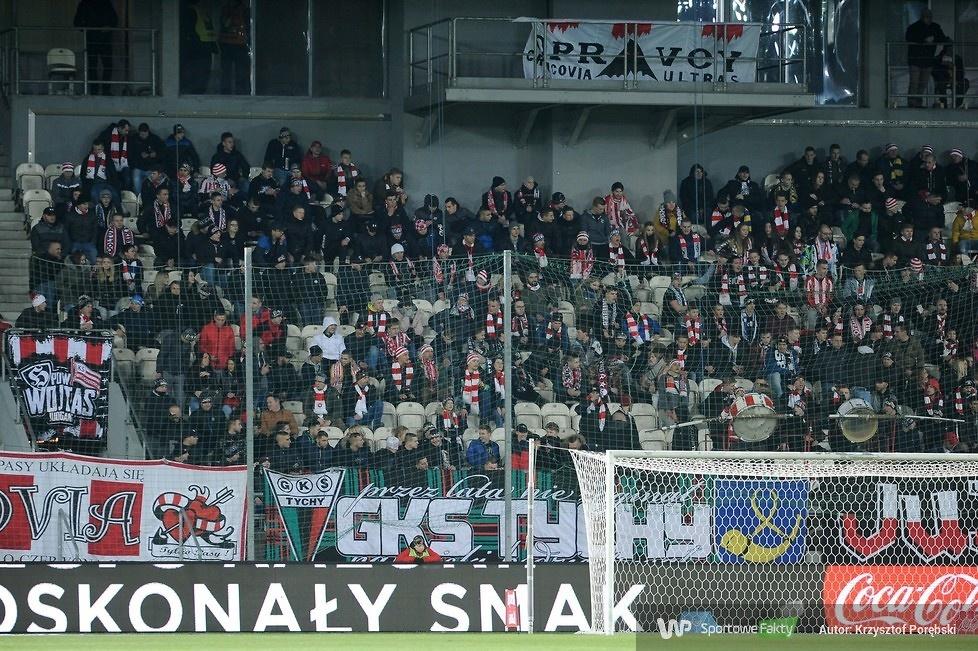 Kibice podczas meczu Cracovia - Piast (galeria)
