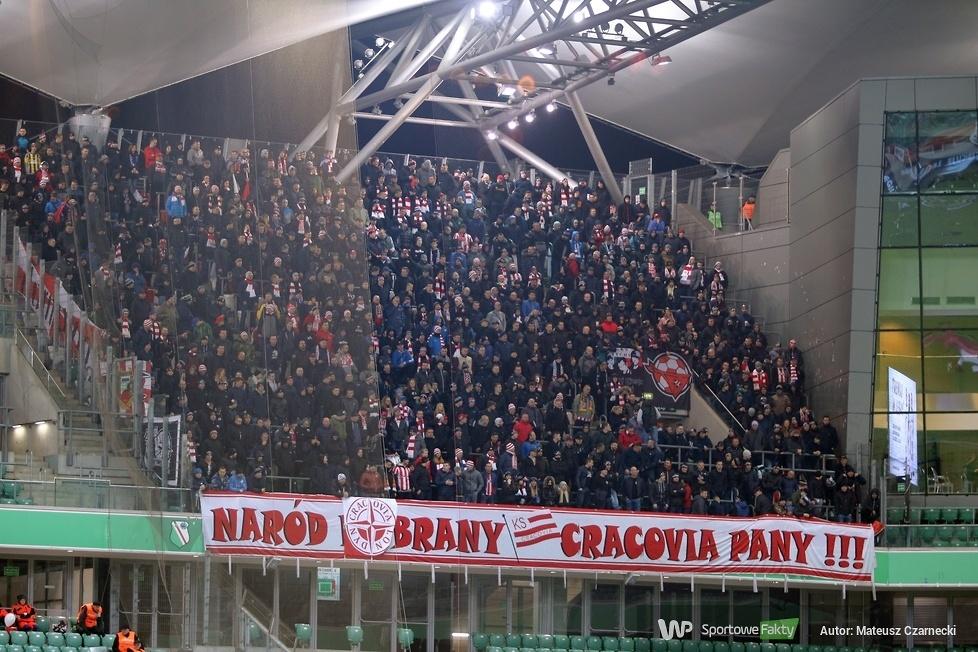 Kibice podczas meczu Legia Warszawa - Cracovia Kraków (galeria)
