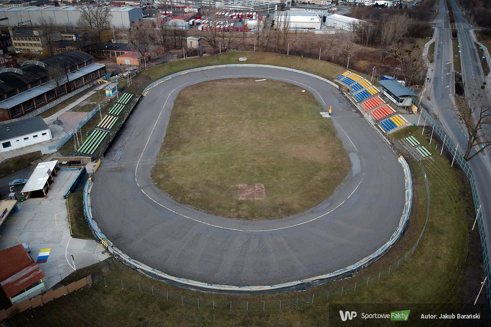 Stadion OK Kolejarza Opole z lotu ptaka