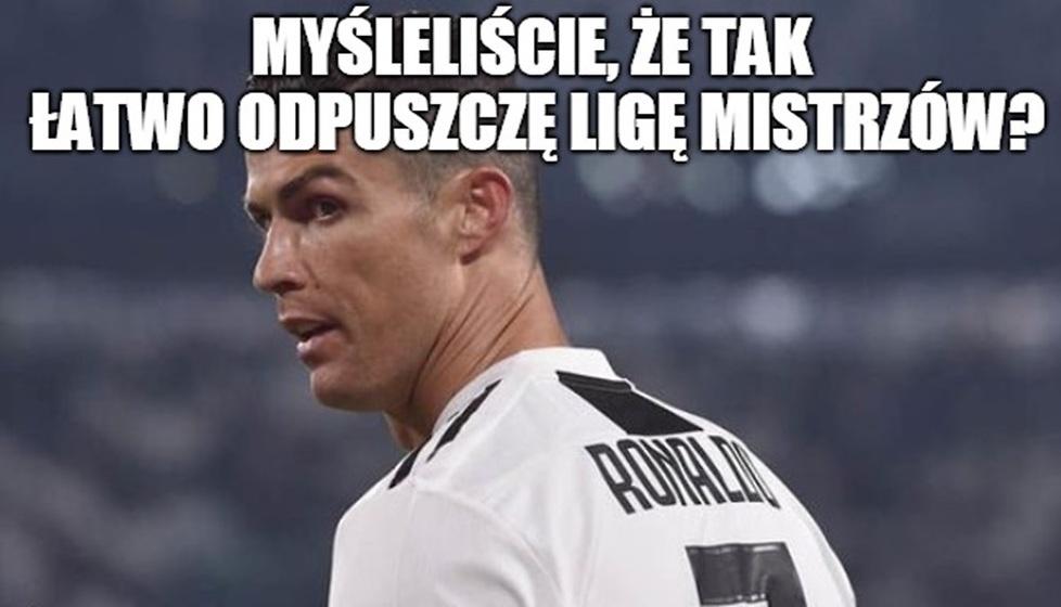 Liga Mistrzów 2019. Juventus Turyn - Atletico Madryt. Cristiano Ronaldo królem memów
