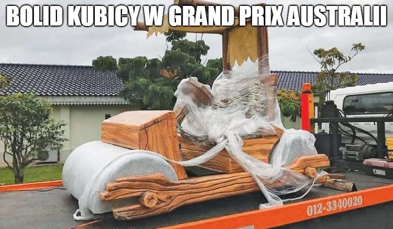 Kubica mógł się czuć jak Flintstone. Zobacz memy po powrocie Polaka do F1