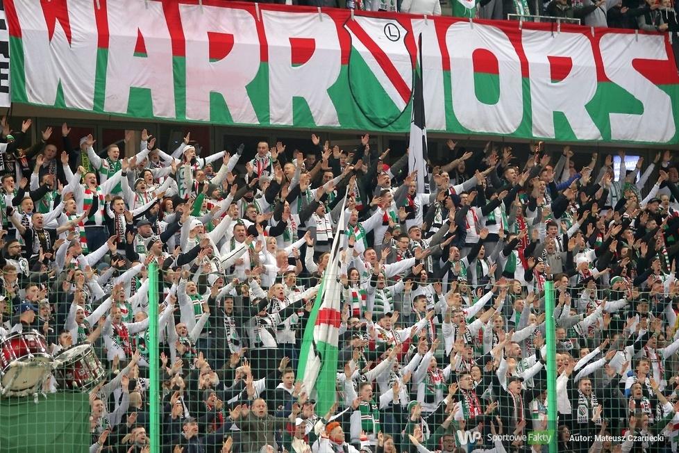 Kibice podaczas meczu Legia Warszawa - Śląsk Wrocław (galeria)